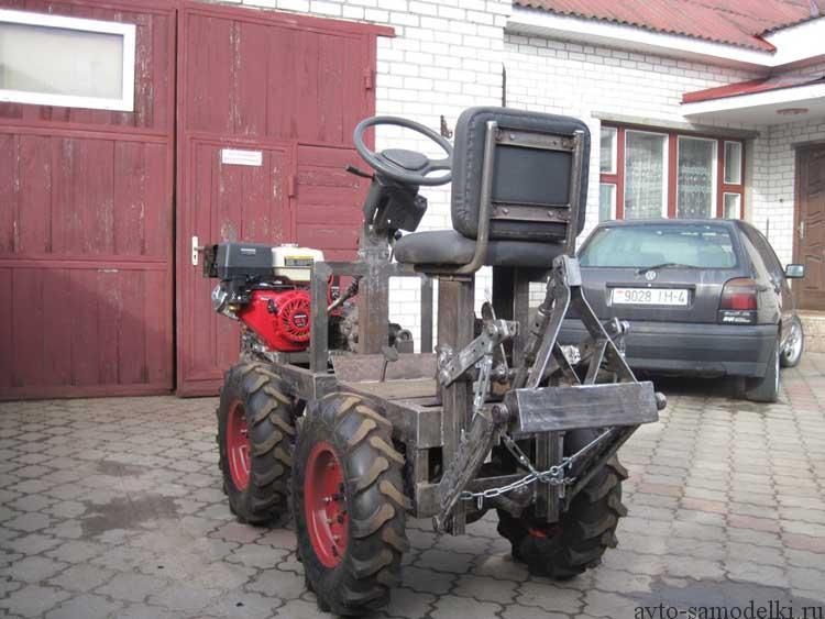 трактор из двигателя