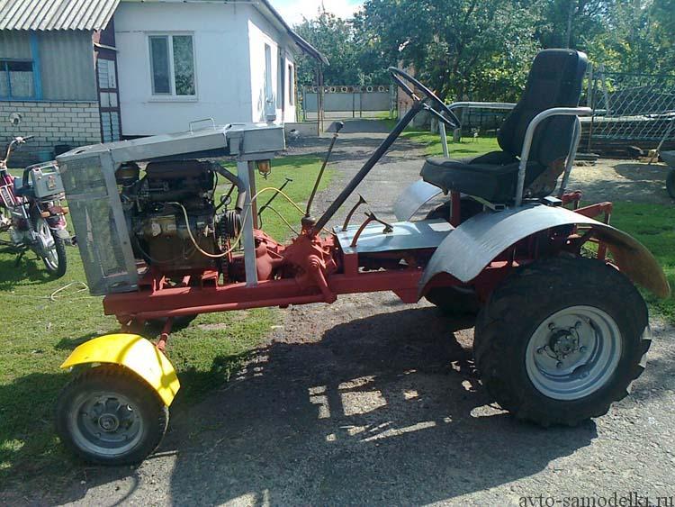 трактор из двигателя уд 2