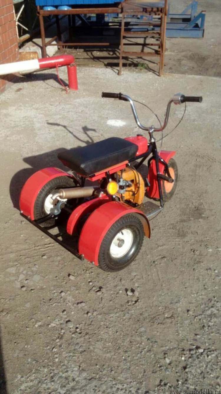 трицикл из бензопилы