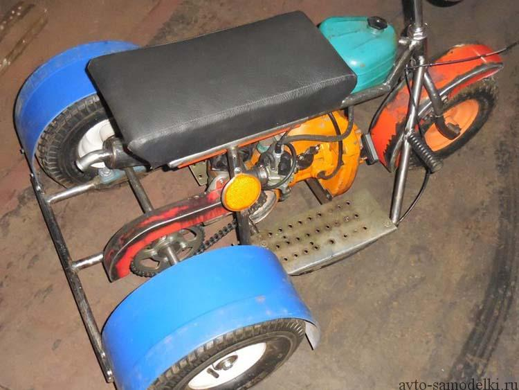 Самодельный мопед из двигателя как сделать