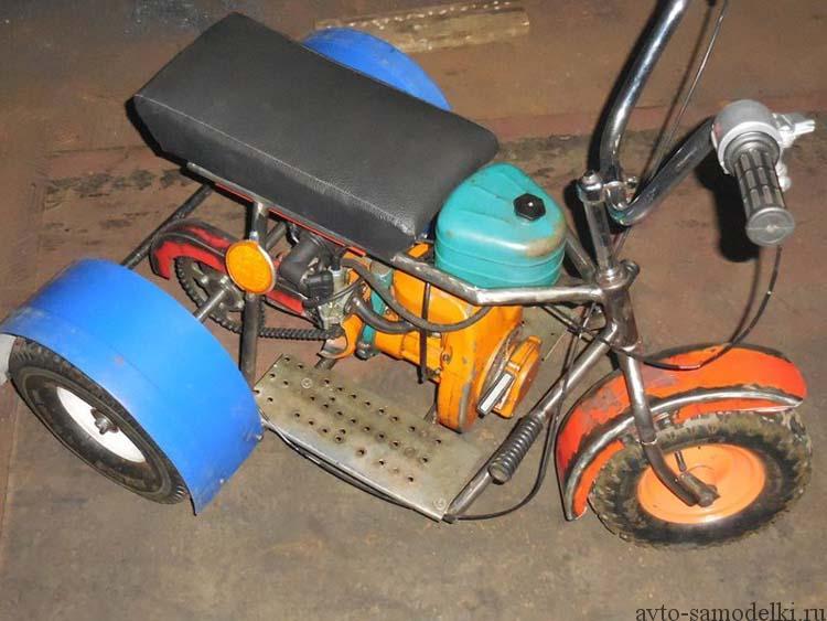 Как сделать детский мотоцикл своими руками 836