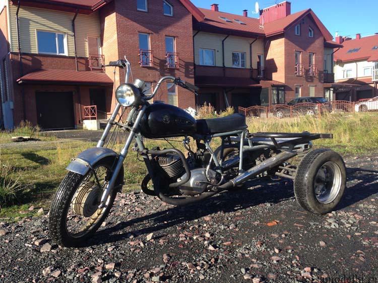 трёхколёсный мотоцикл самоделка