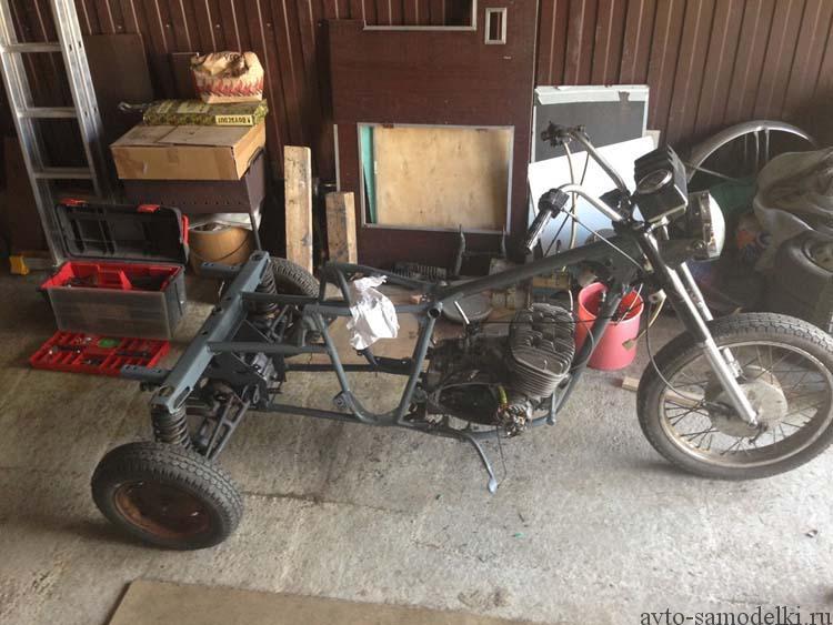 делаем трицикл из мотороллера