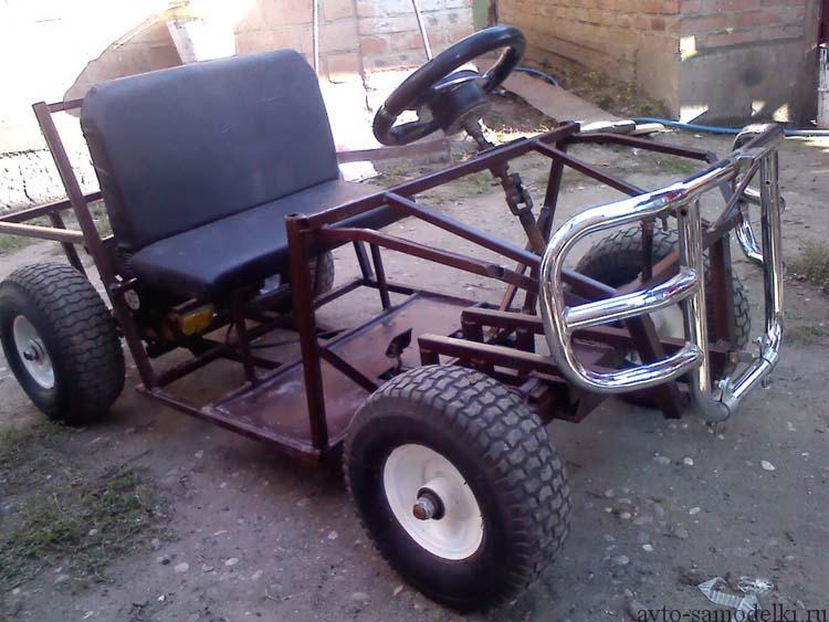 детский квадроцикл самоделка