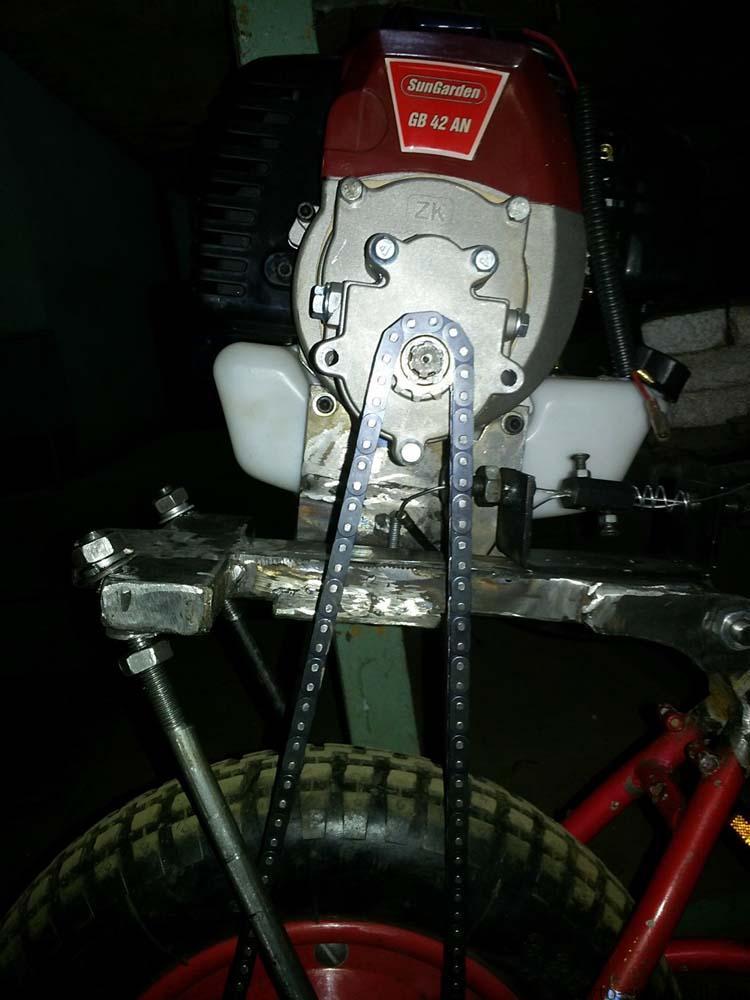 привод на колесо мопеда