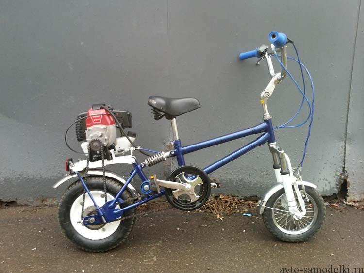 мини мопед из велосипеда