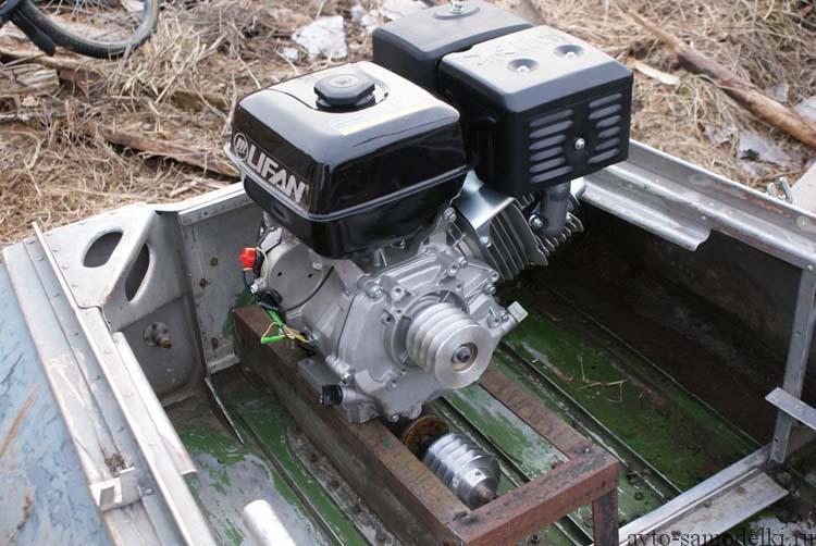 Установка двигателя Lifan на лодку Казанку