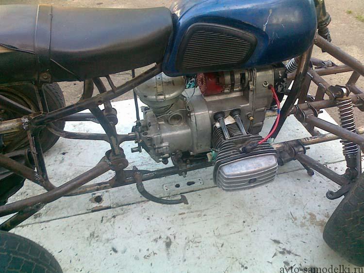 сделать квадроцикл из мотоцикла
