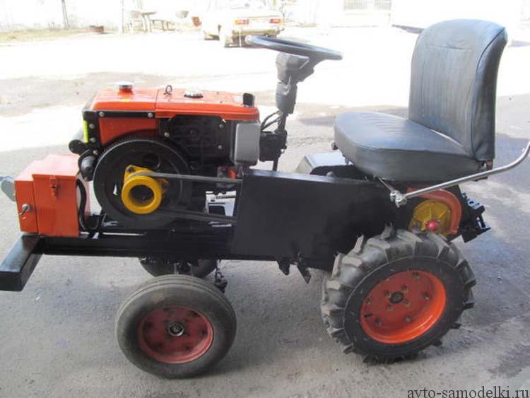 мини трактор из мотоблока фото
