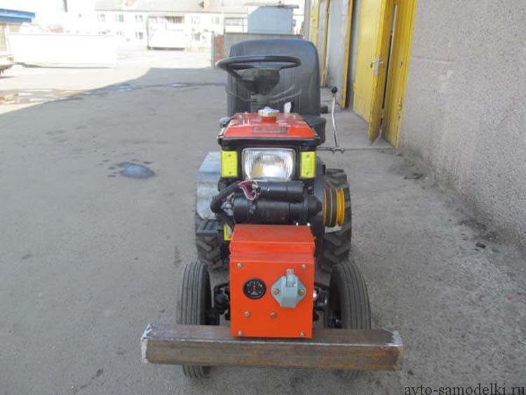 Самодельный мини трактор сделанный из мотоблока