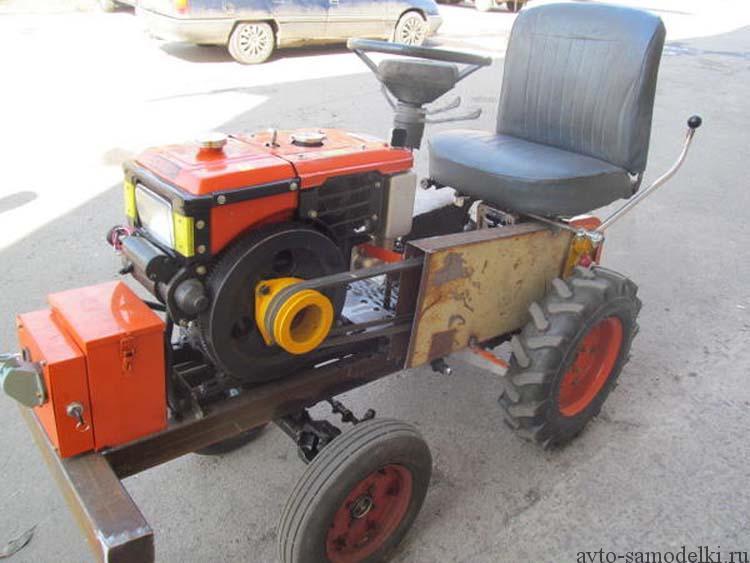самоделка трактор