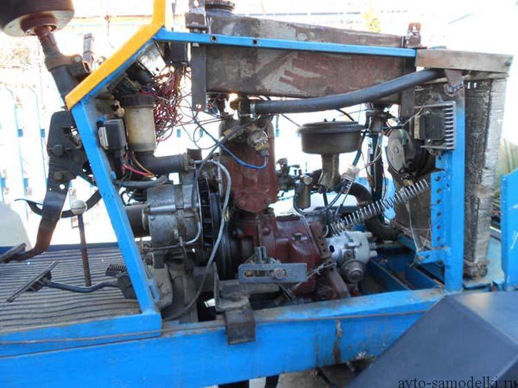 трактор с двигателем ПД-10