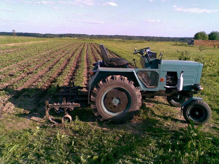 трактор с двигателем запорожца