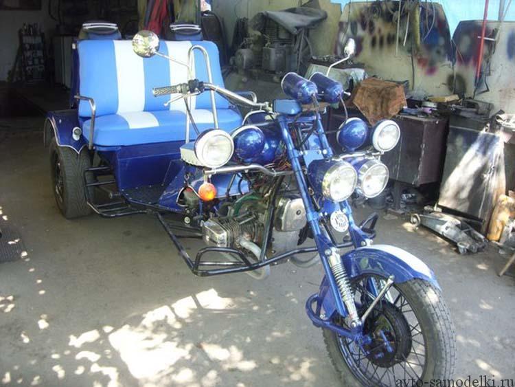 Самодельный трицикл из мотоцикла Днепр