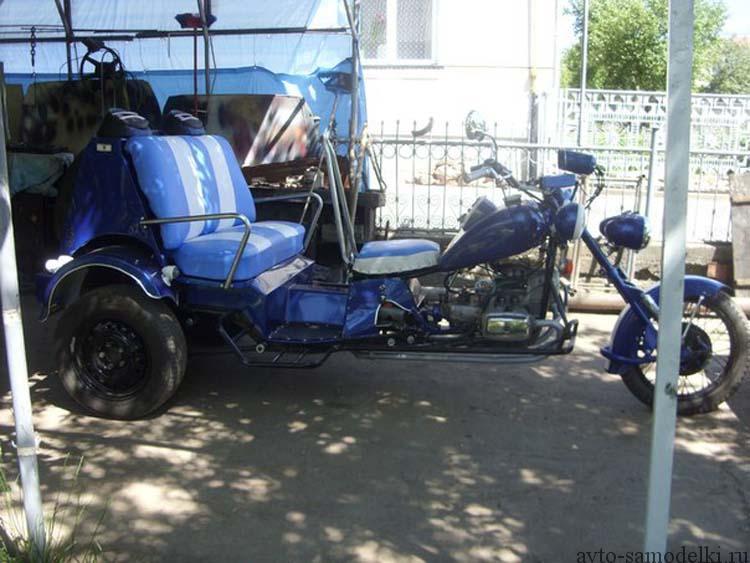 Самодельный трицикл из мотоцикла мт