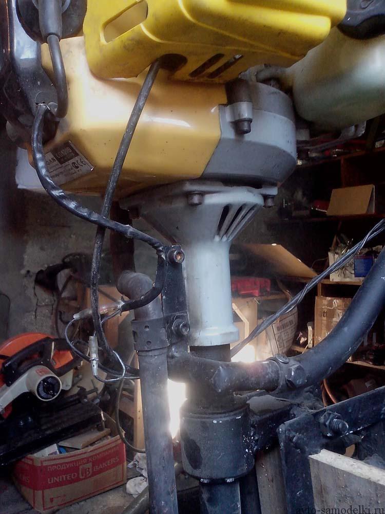 Мотор для лодки из триммера фото