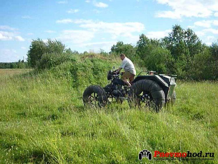 Гусеничный вездеход из мотоцикла урал своими руками фото 692