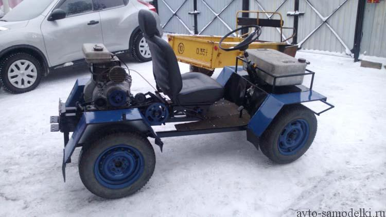 самодельный трактор сделанный из мотоблока