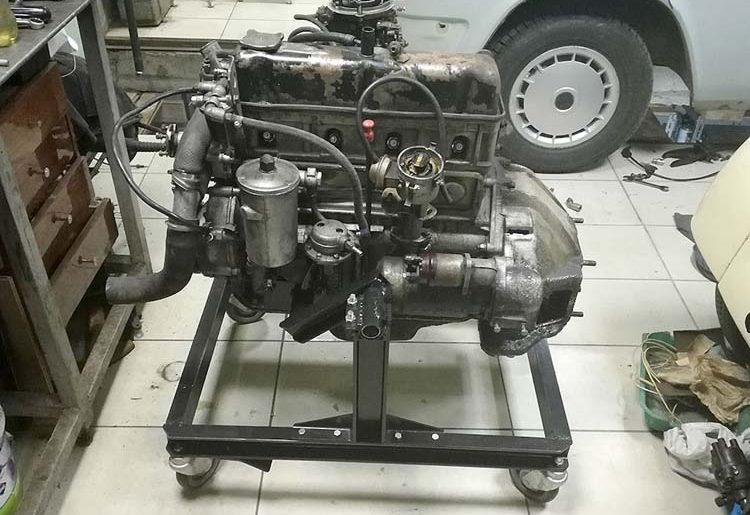 stend dvigatelya 1 750x515 - Стойка для ремонта двигателя своими руками