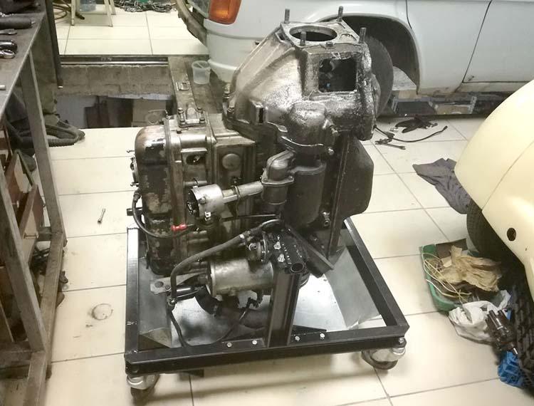 stend dvigatelya 3 - Стойка для ремонта двигателя своими руками