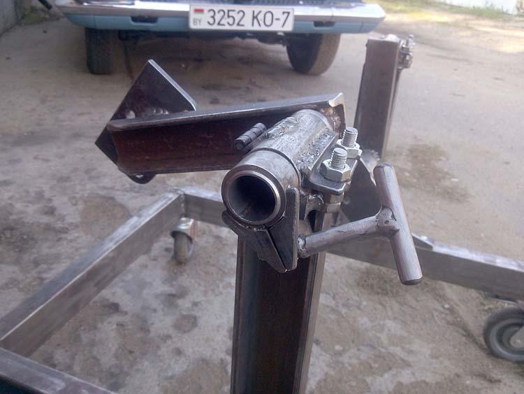 stend dvigatelya 7 - Стойка для ремонта двигателя своими руками