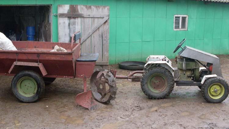 трактор сделанный из мотоблока