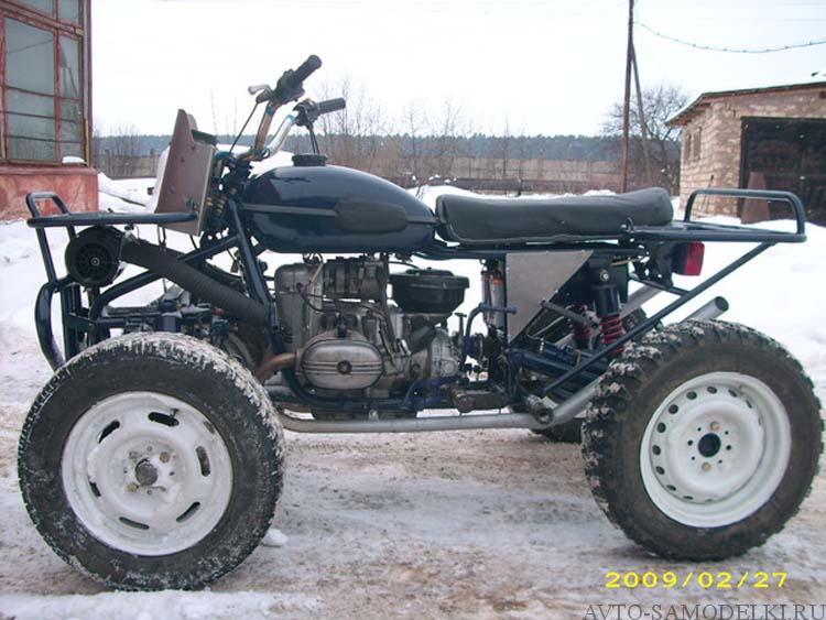 квадроцикл самодельный из мотоцикла