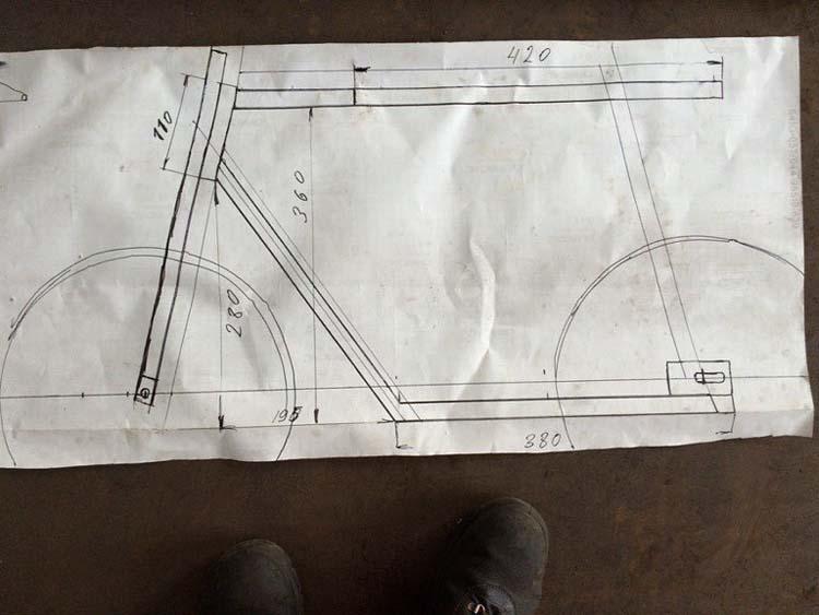 чертежи мини мопеда