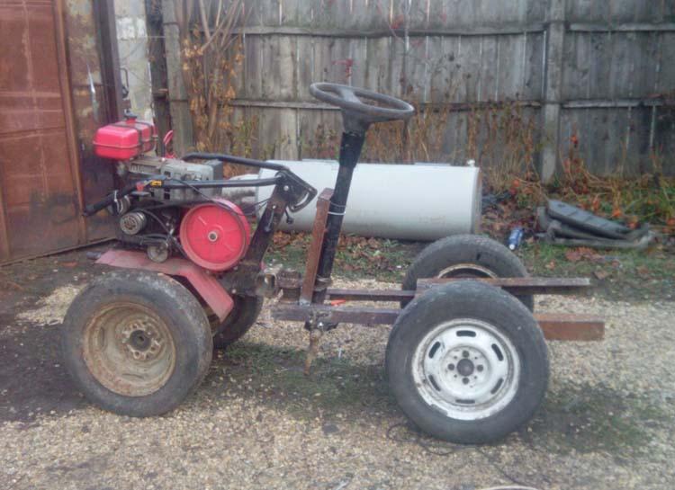 как сделать трактор из мотоблока
