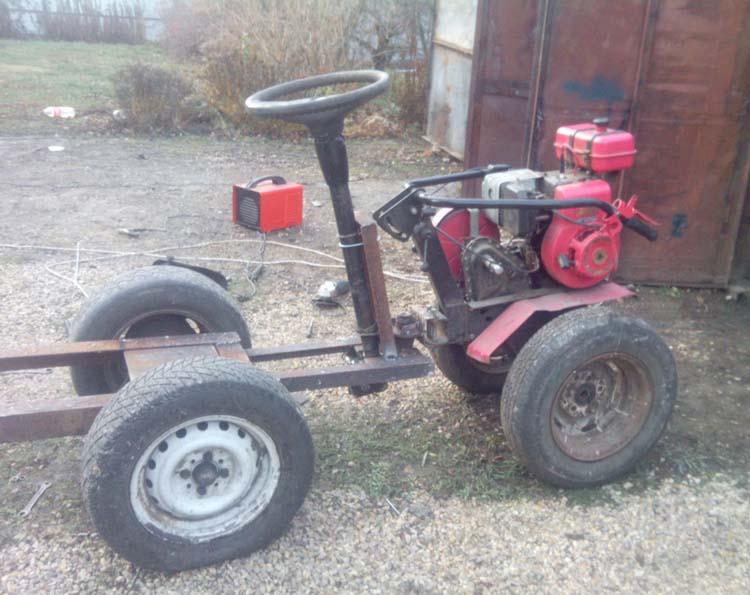 трактор самоделка из мотоблока Ока