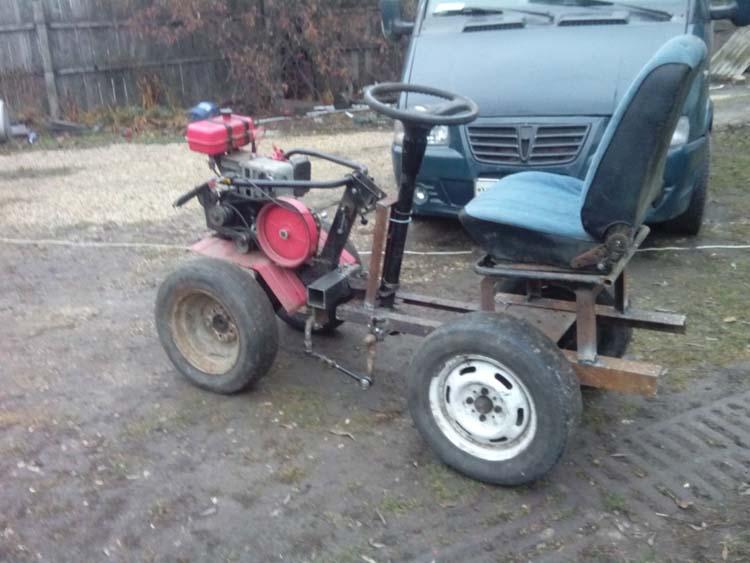 делаем трактор из мотоблока