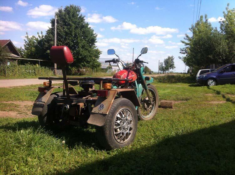 самодельный трёхколёсник
