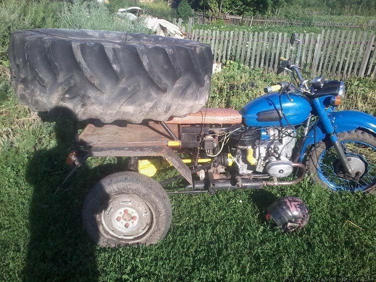 трицикл из мотоцикла
