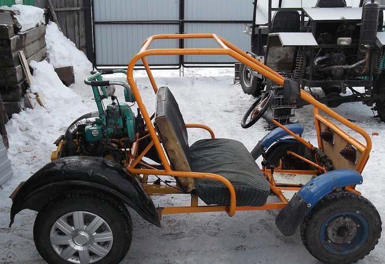 автомобиль из бензопилы