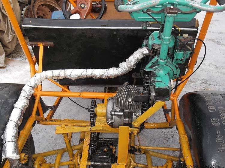 автомобиль с мотором от бензопилы