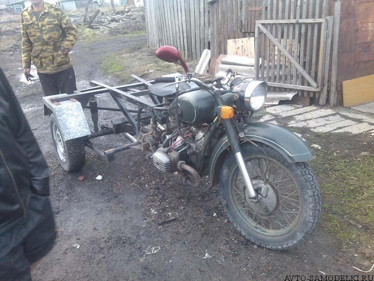 трицикл из мотоцикла урал