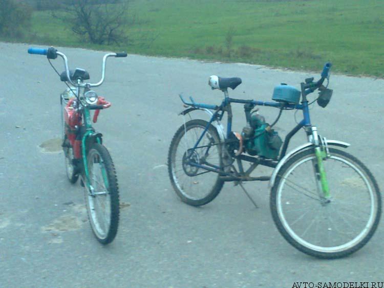 самодельный Велосипед с двигателем от бензопилы