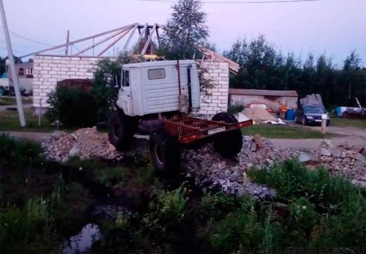 Самодельный вездеход на базе ГАЗ-66