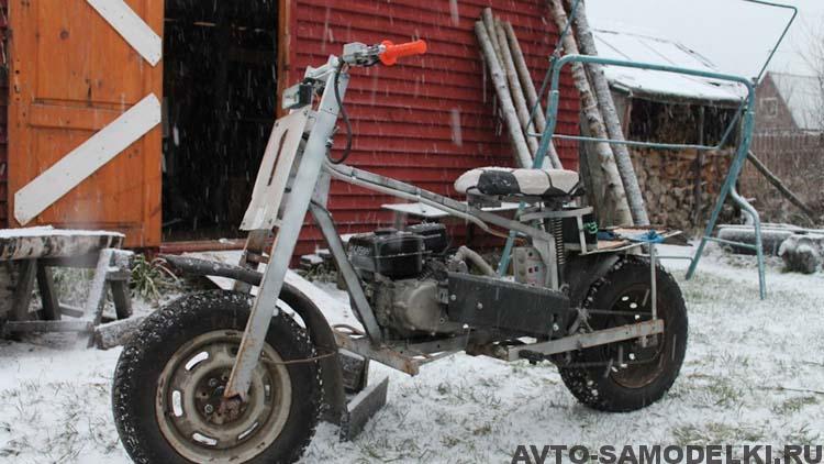 мотоцикл с двигателем мотоблока