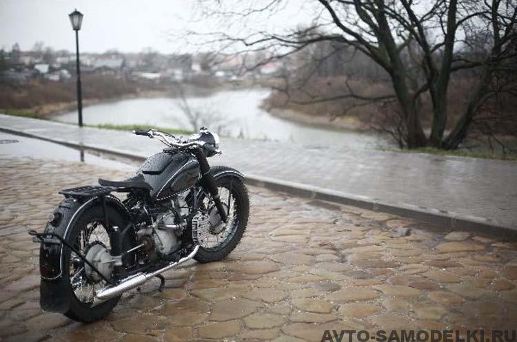 отреставрировал мотоцикл