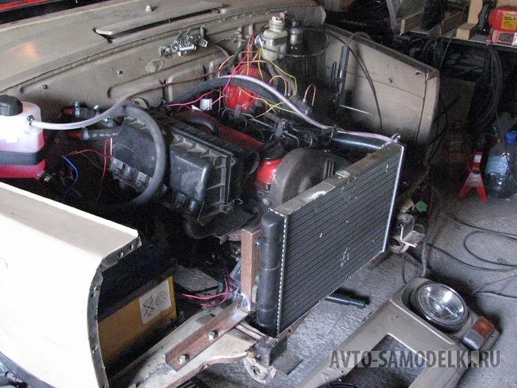 Установил дизельный двигатель1.6 на ЛуАЗ-969